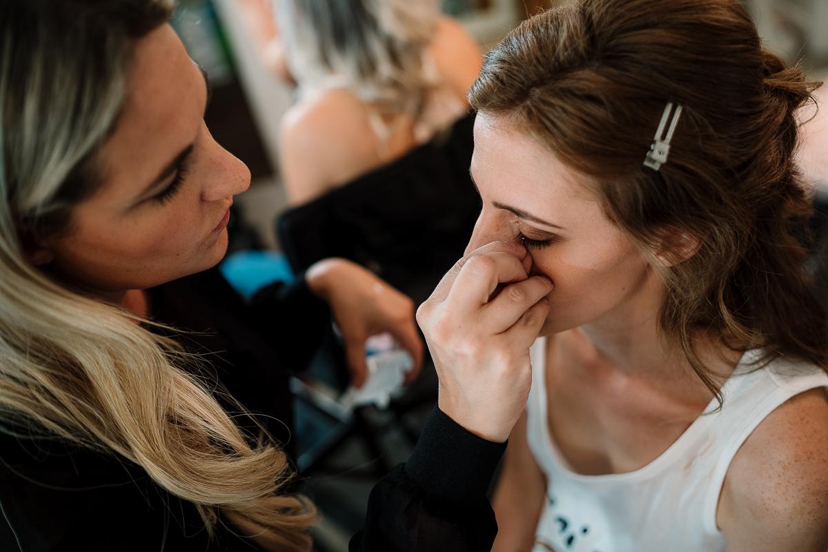Sarah Meredith doing brides makeup