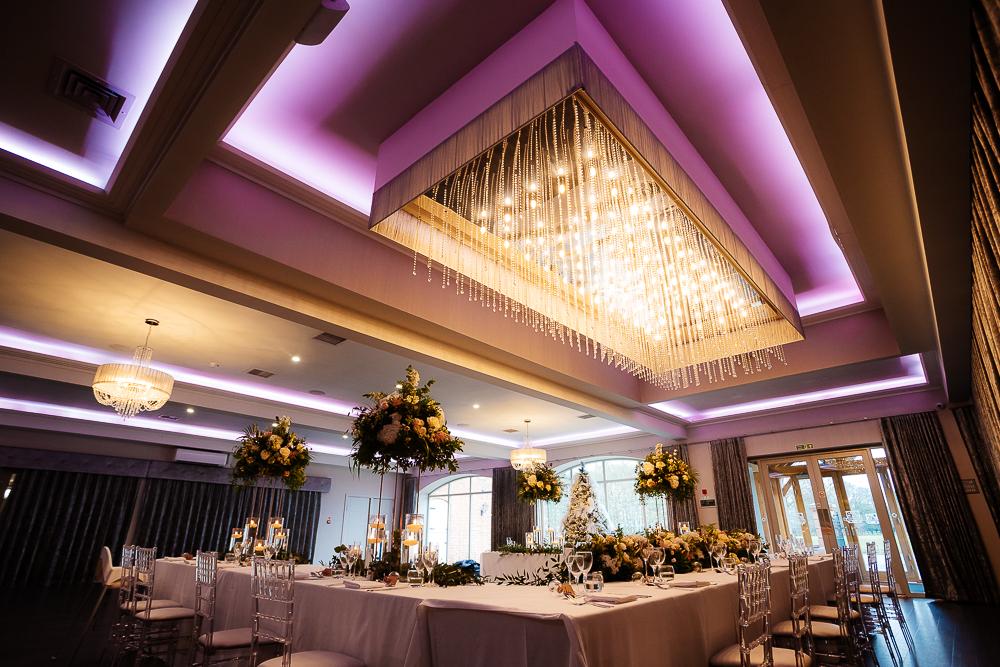 Interior photo of Merrydale suite chandelier